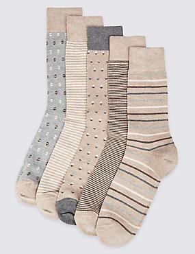 5 Paar Cool & Freshfeet™-Socken in verschiedenen Designs, NEUTRAL, catlanding