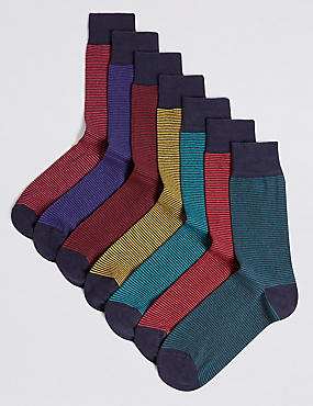 7 Pairs of Cool & Freshfeet™ Assorted Socks, MULTI/BRIGHTS, catlanding