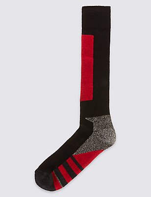 Wool Blend Ankle High Socks, RED MIX, catlanding