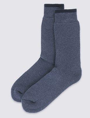 2 Pairs of Ultraheat Short Thermal Socks, NAVY, catlanding
