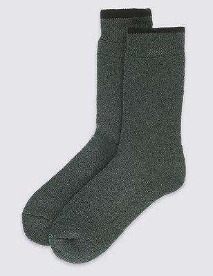 2 Pairs of Ultraheat Short Thermal Socks, BLACK, catlanding