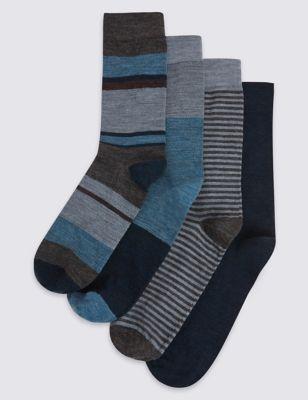 Носки из овечьей шерсти в ассортименте (4 пары)