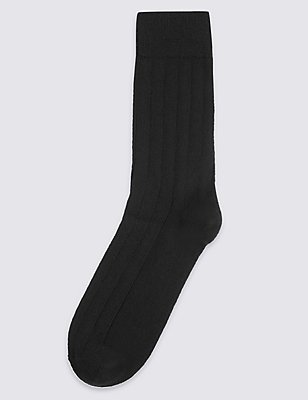 Cashmere Rich Socks, BLACK, catlanding