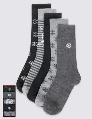 Хлопковые носки Christmas (5 пар)