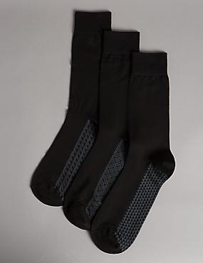 3 Pairs of Modal Blend Socks , BLACK MIX, catlanding