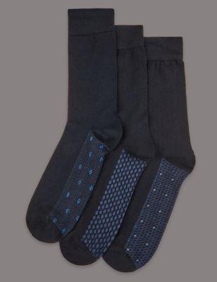Носки из смесового волокна с дизайном (3 пары) Autograph T109850