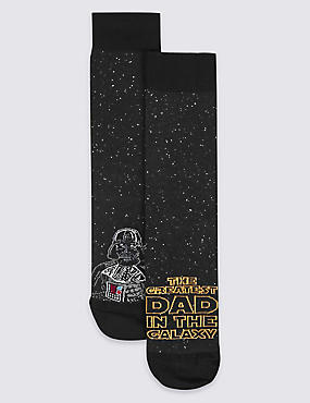 2 Pairs of Cotton Rich Star Wars™ Socks, , catlanding