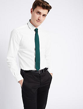 Pure Cotton Tailored Fit Shirt , WHITE, catlanding