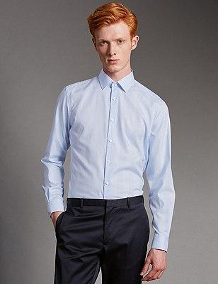 Supima® Cotton Prince of Wales Checked Shirt, LIGHT BLUE, catlanding