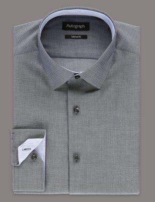 Текстурная рубашка добби из премиального хлопка Supima® Autograph T110507A