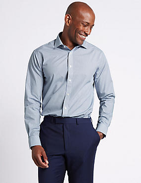 Pure Cotton Easy to Iron Tailored Fit Shirt, , catlanding