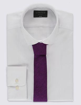 Приталенная однотонная рубашка Easy to Iron с галстуком