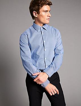 Supima® Cotton Tailored Fit Shirt, BLUE MIX, catlanding