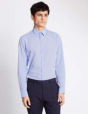 Super Slim Shirt, BLUE, catlanding