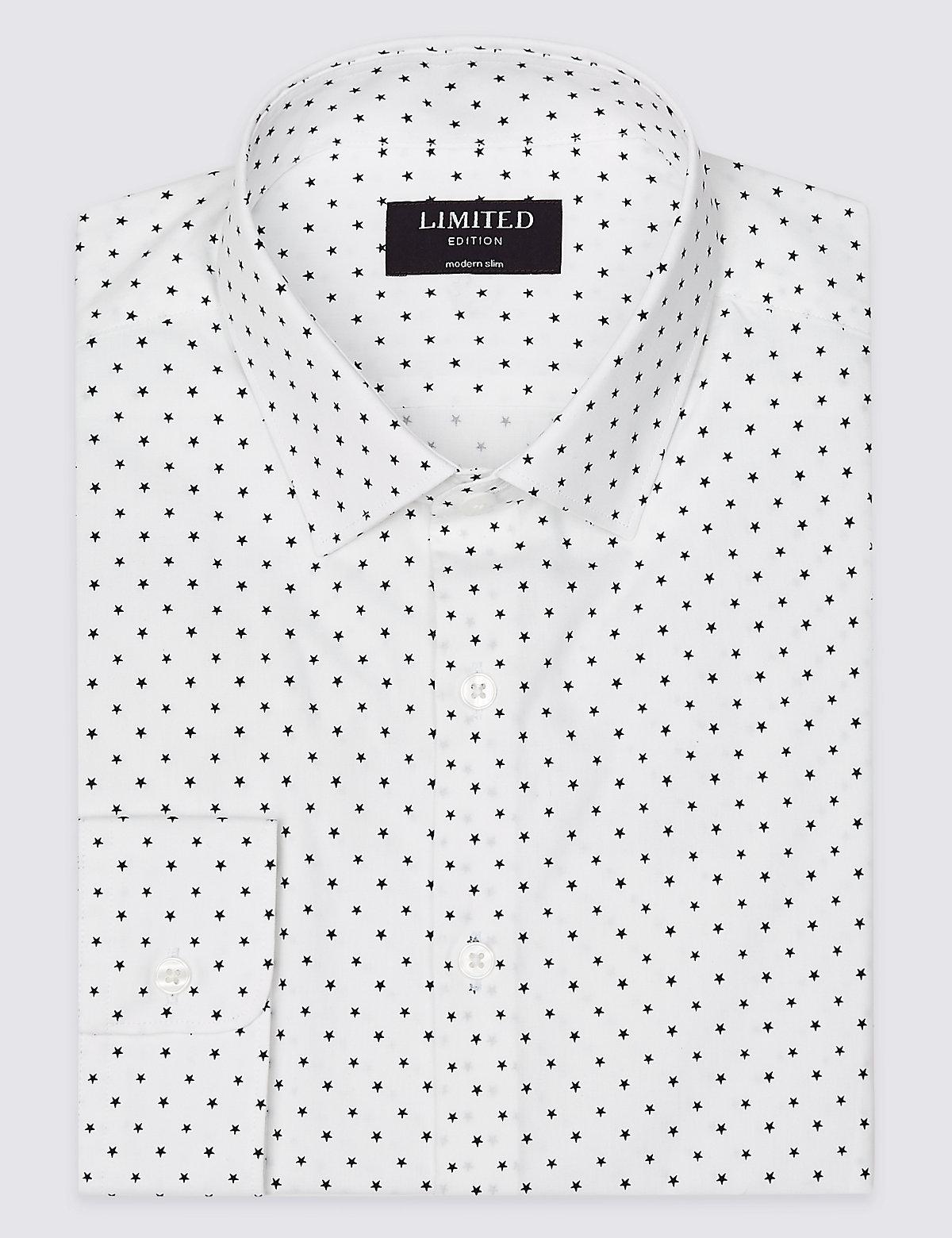 Рубашка  из 100% хлопка узкого кроя Modern