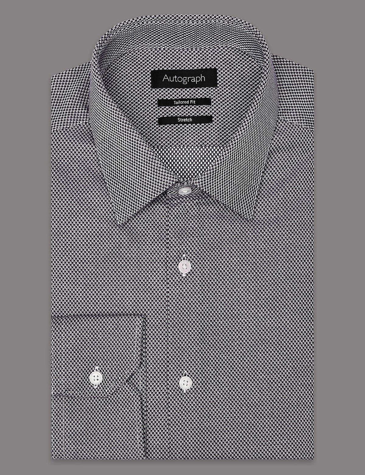 Рубашка мужская текстурированная