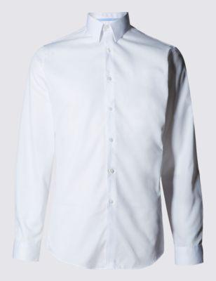 Мужская приталенная рубашка из саржи