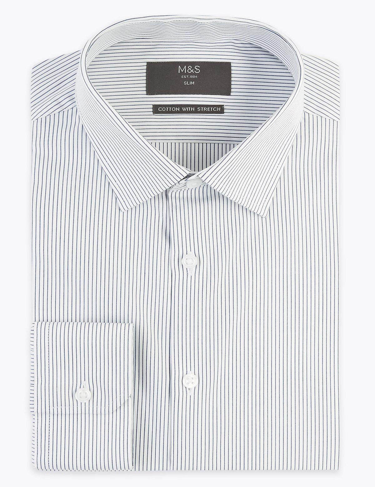 Рубашка узкого кроя Easy Iron с длинным рукавом