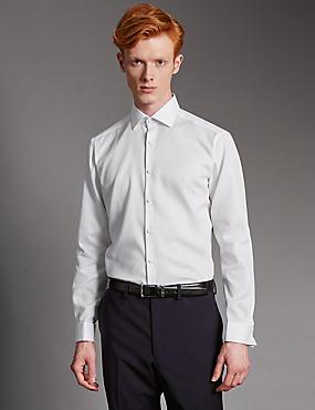 Supima® Cotton Tailored Fit Shirt, WHITE, catlanding