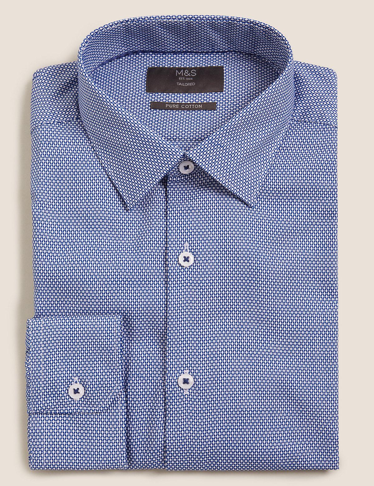 Фактурная рубашка с длинным рукавом из чистого хлопка