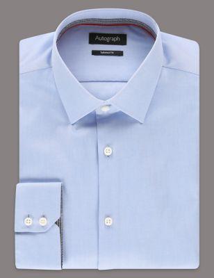 Слегка приталенная рубашка из премиального хлопка Supima® T110705A