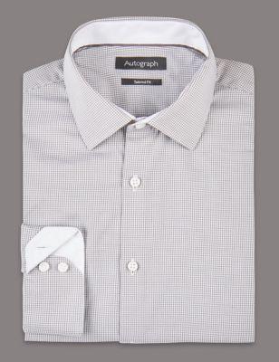 Слегка приталенная рубашка из премиального хлопка Supima® в полоску от Marks & Spencer