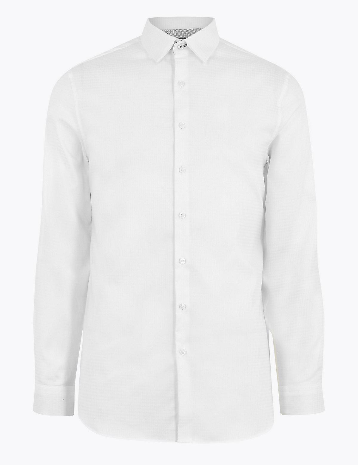 Фактурная хлопковая рубашка