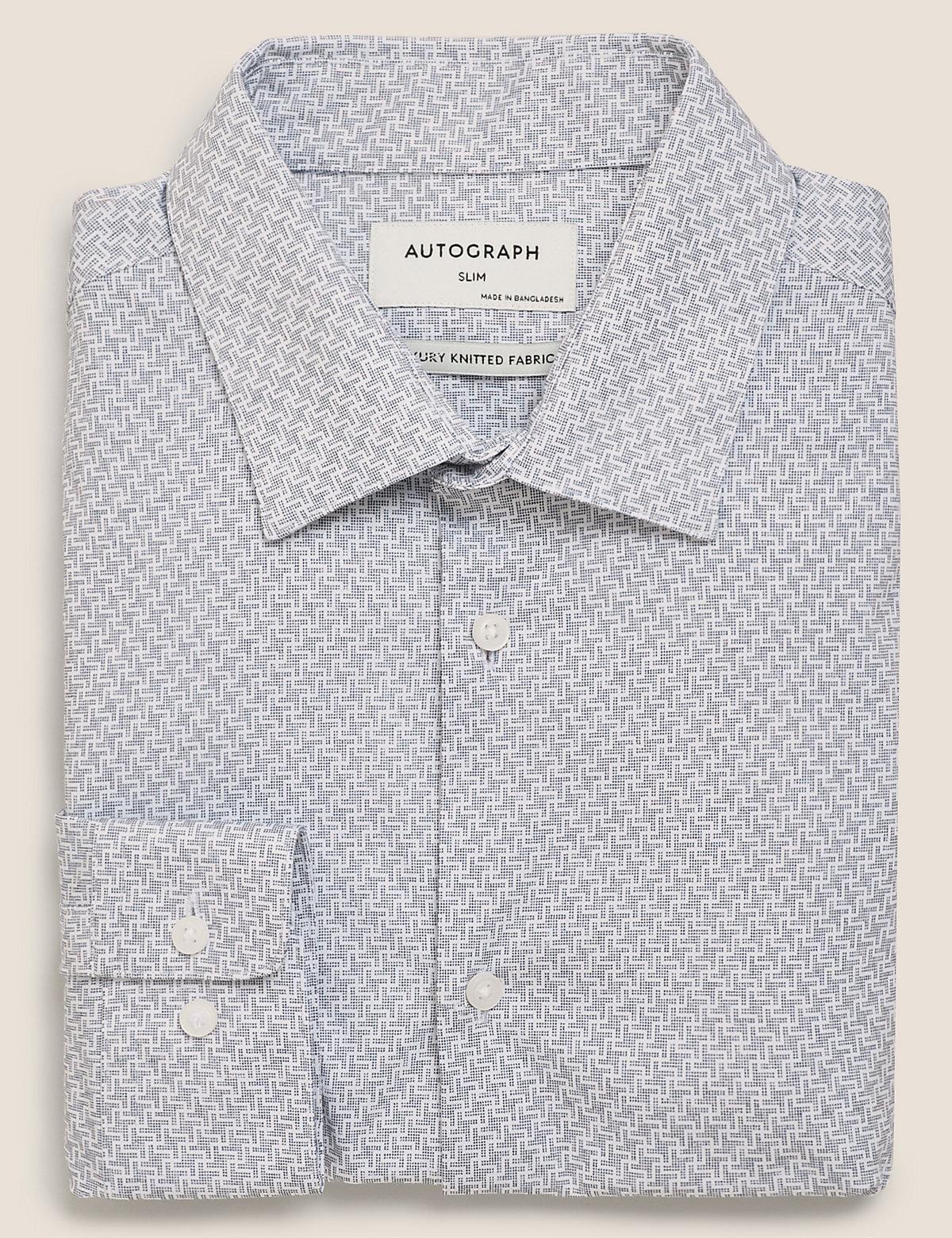 Рубашка облегающего кроя с принтом