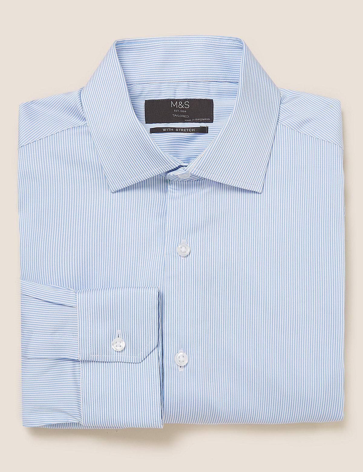 Рубашка в полоску приталенного кроя Easy to Iron