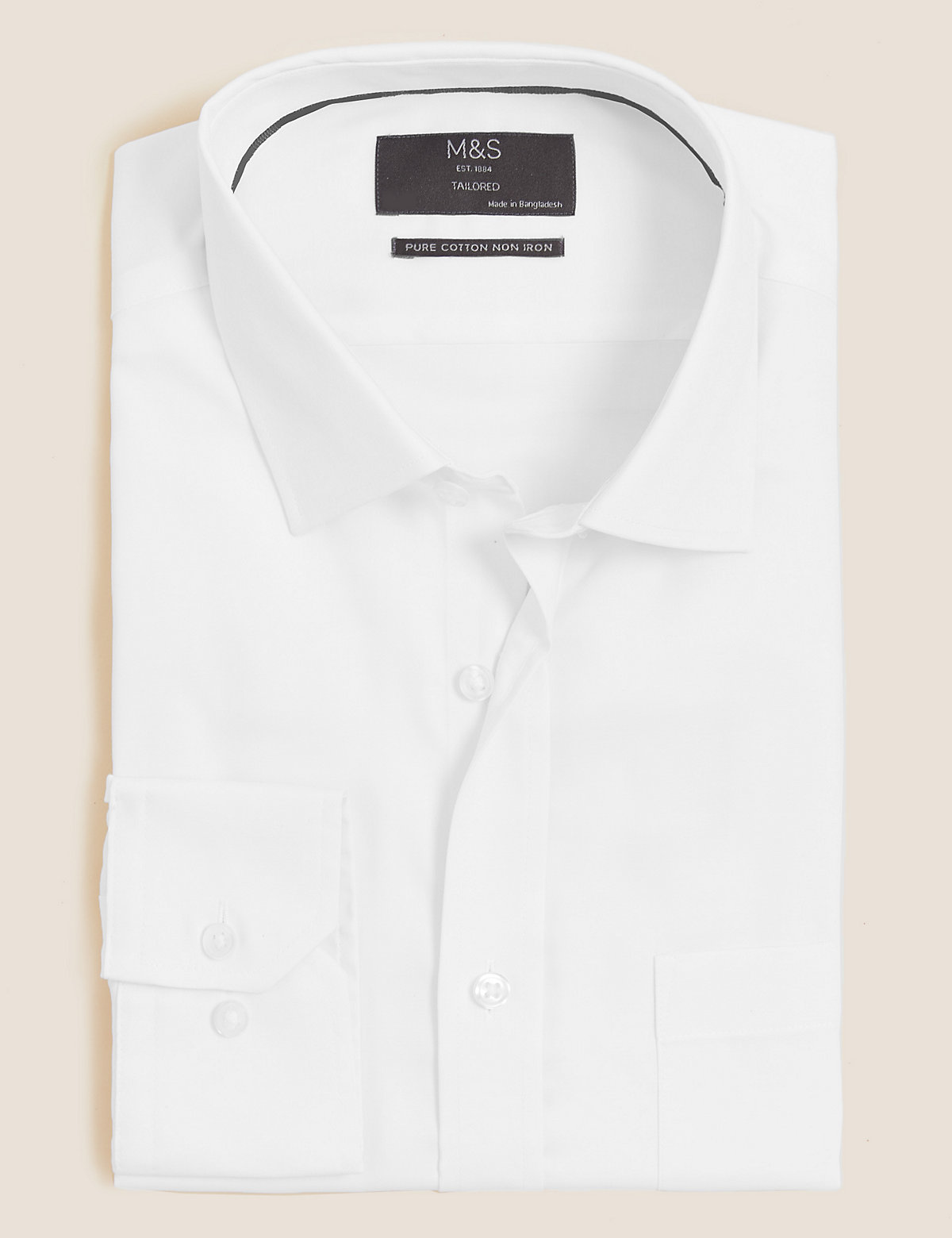 Классическая рубашка из хлопкового твила
