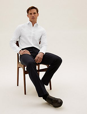 Pure Cotton Non Iron Slim Fit Shirt, WHITE, catlanding