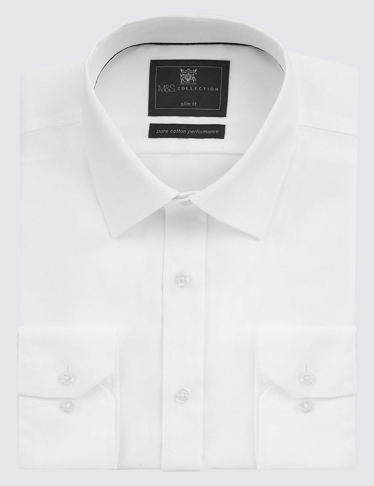 Приталенная хлопковая мужская рубашка