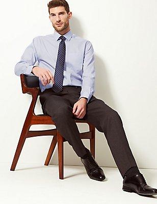 Pure Cotton Non-Iron Tailored Fit Shirt, SKY, catlanding
