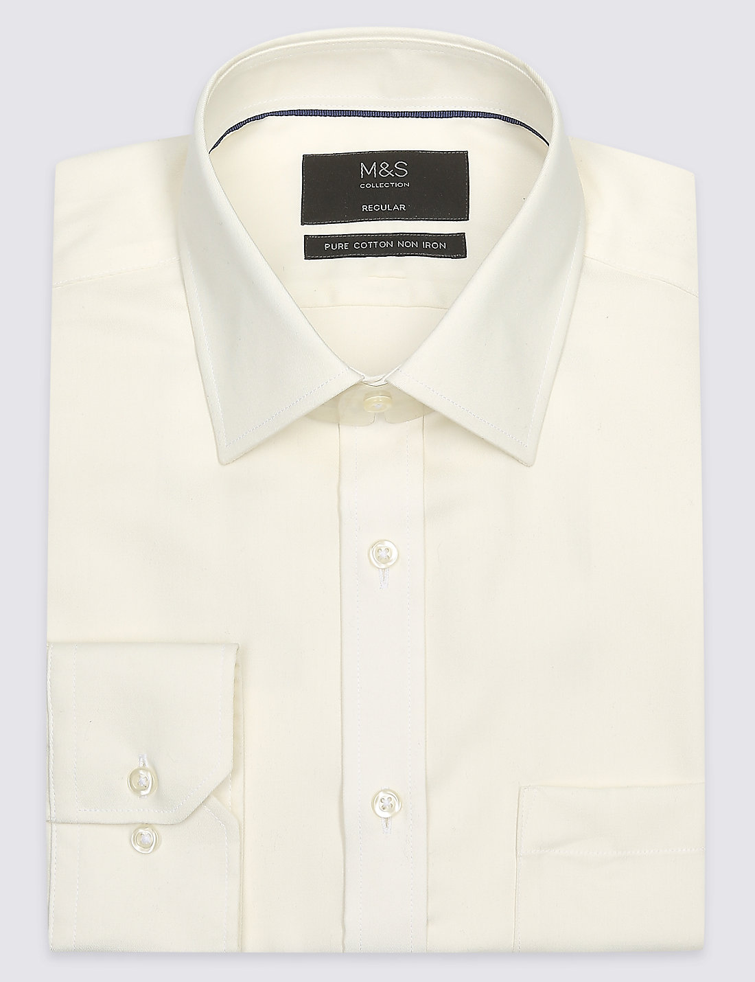 Cream Formal Shirts | Buy Mens Ivory Formal Shirt Online | M&S