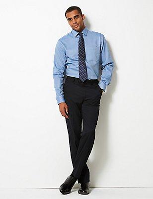 Non-Iron Regular Fit Oxford Shirt, BLUE BLUE, catlanding