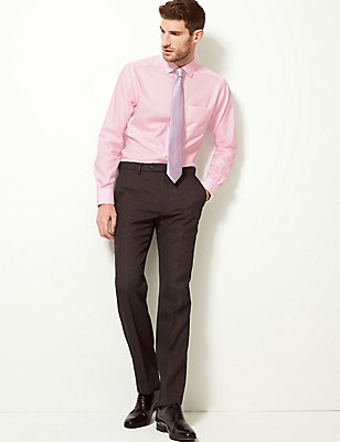 Pure Cotton Tailored Fit Shirt with Pocket, PINK, catlanding