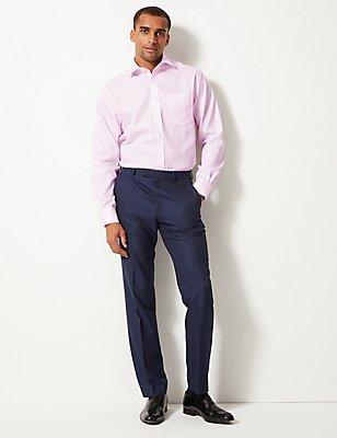 Pure Cotton Regular Fit Shirt with Pocket, PINK, catlanding
