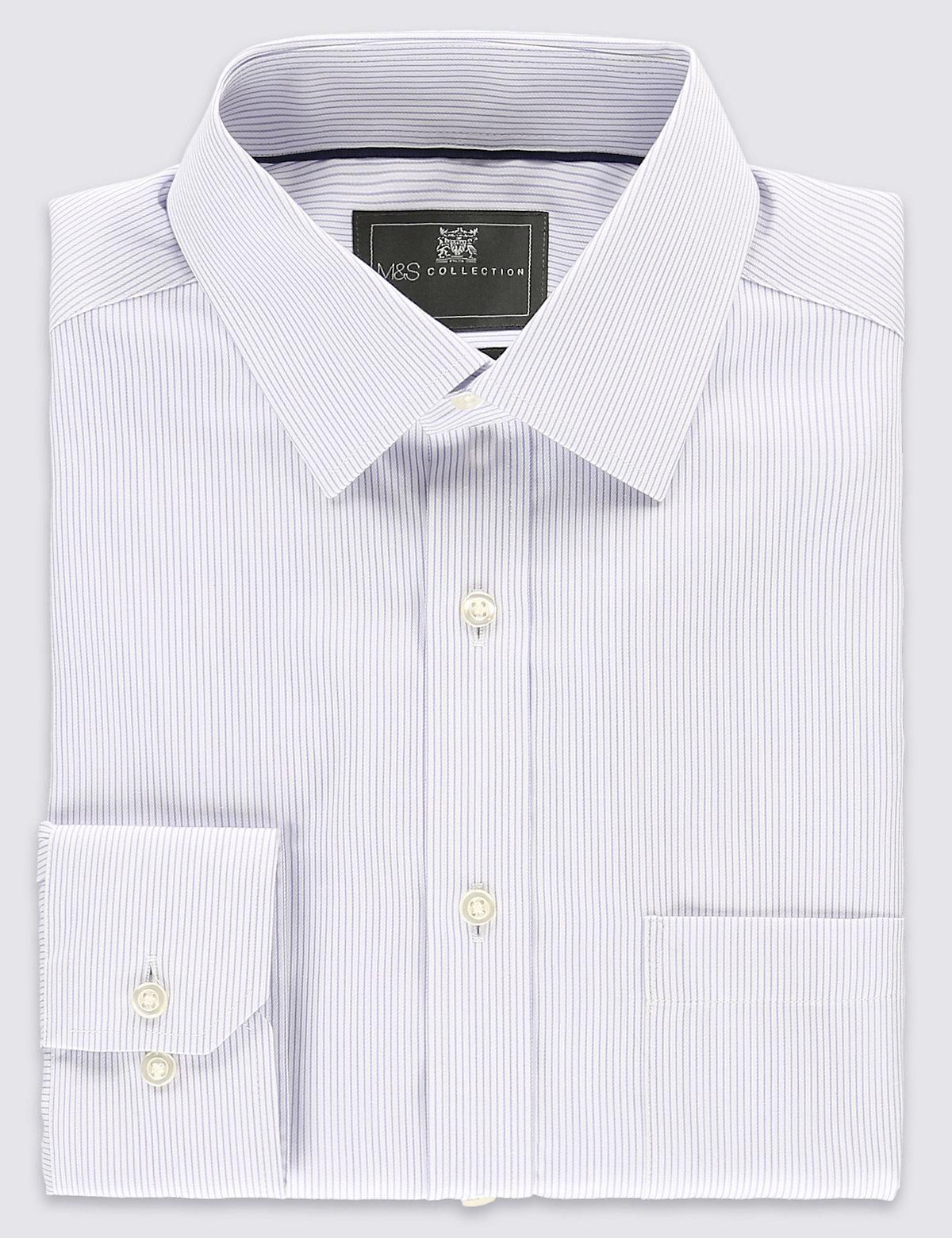 Рубашка Performance из чистого хлопка Non-Iron в тончайшую полоску