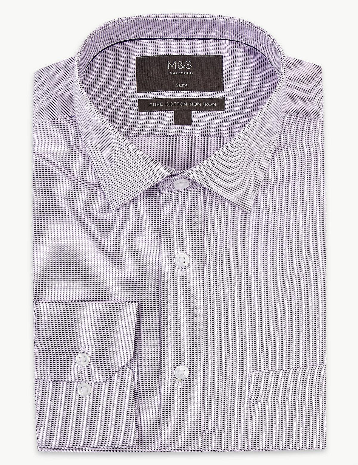 Мужская рубашка Non-Iron из 100%-го хлопка