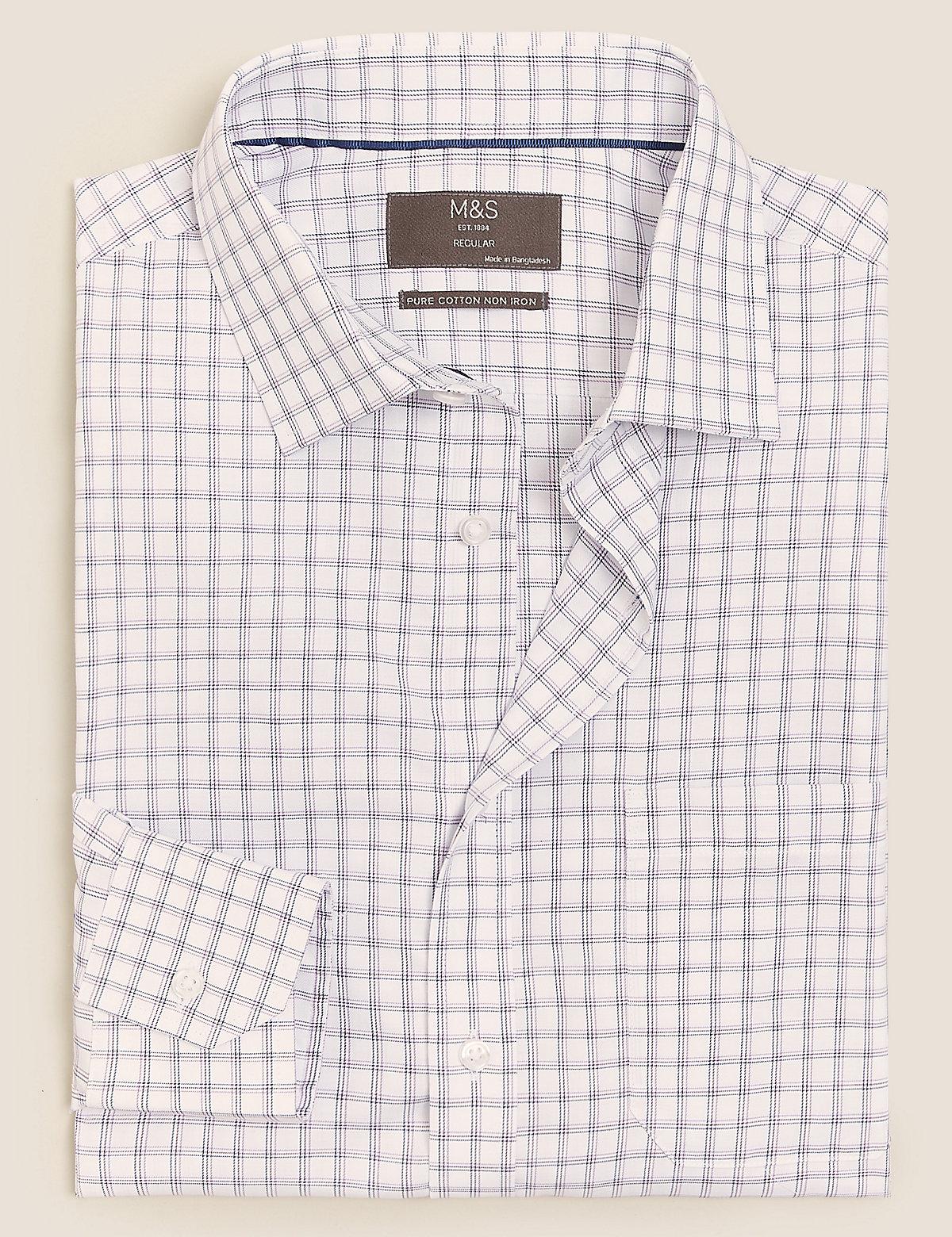 Рубашка в клетку из чистого хлопка стандартного кроя