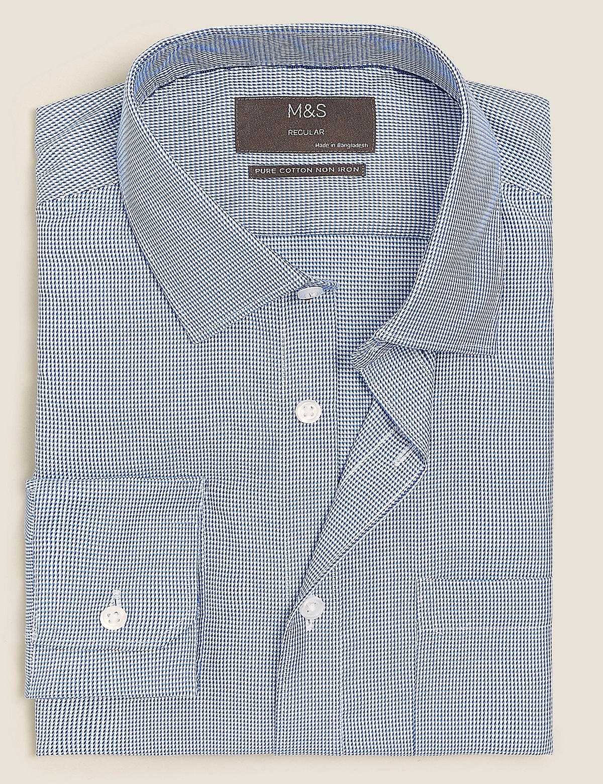 Хлопковая рубашка с отделкой Non Iron