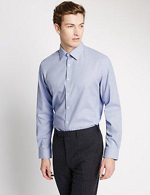 Pure Cotton Slim Fit Printed Shirt, BLUE MIX, catlanding