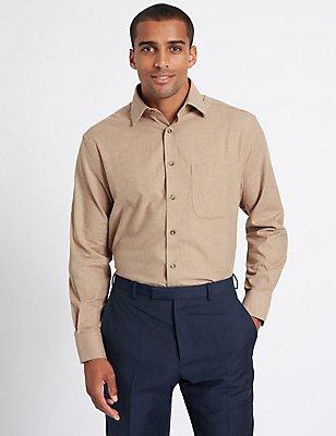 Pure Cotton Shirt with Pocket, BEIGE, catlanding