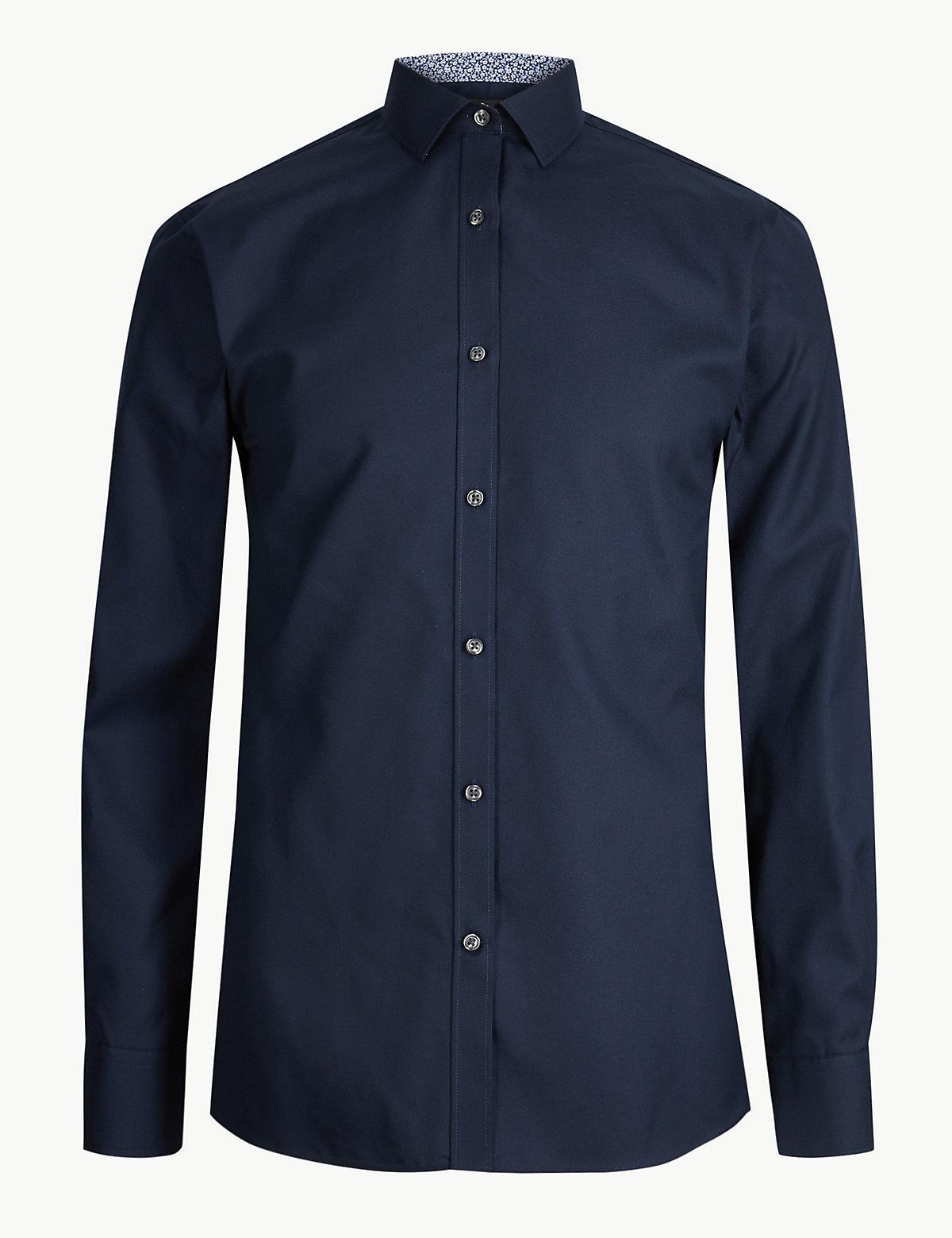 Узкая мужская рубашка