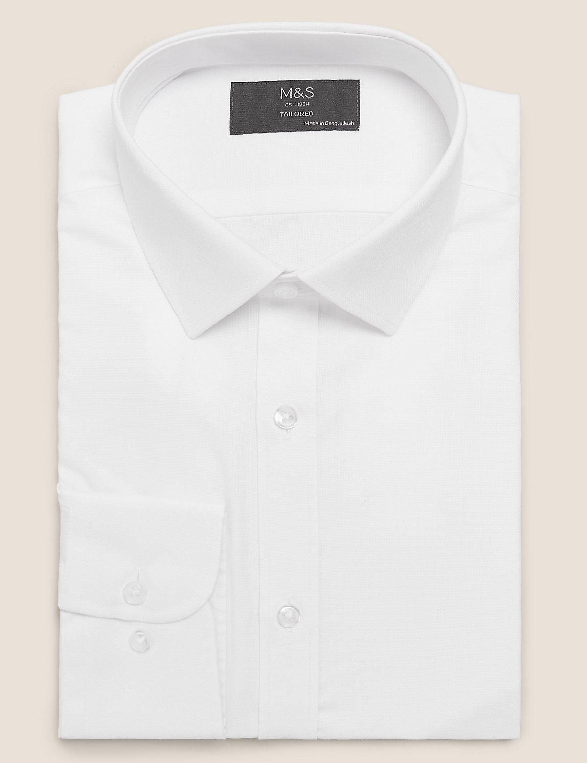 Фактурная рубашка с длинным рукавом Easy Iron