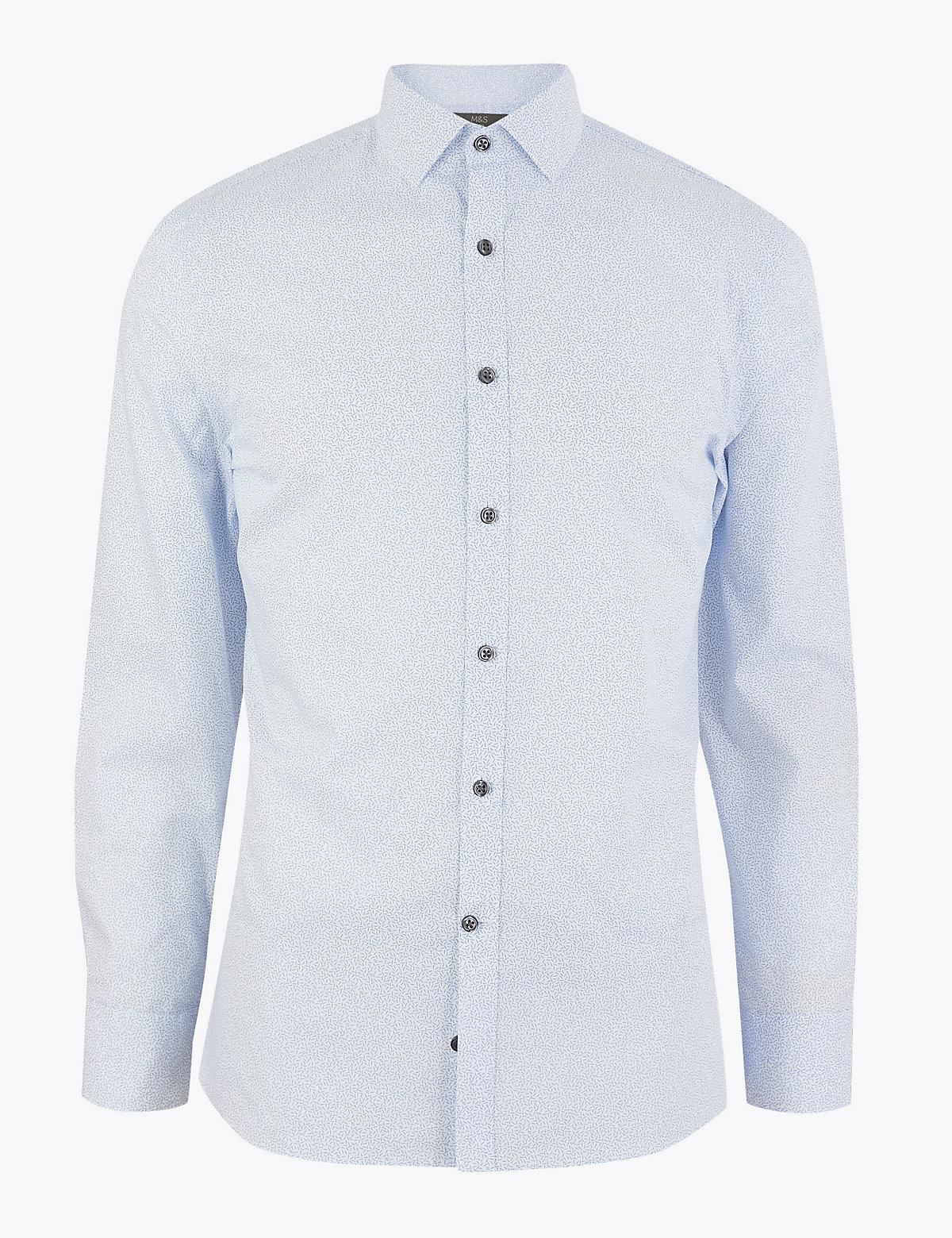 Зауженная рубашка из плотной хлопковой ткани