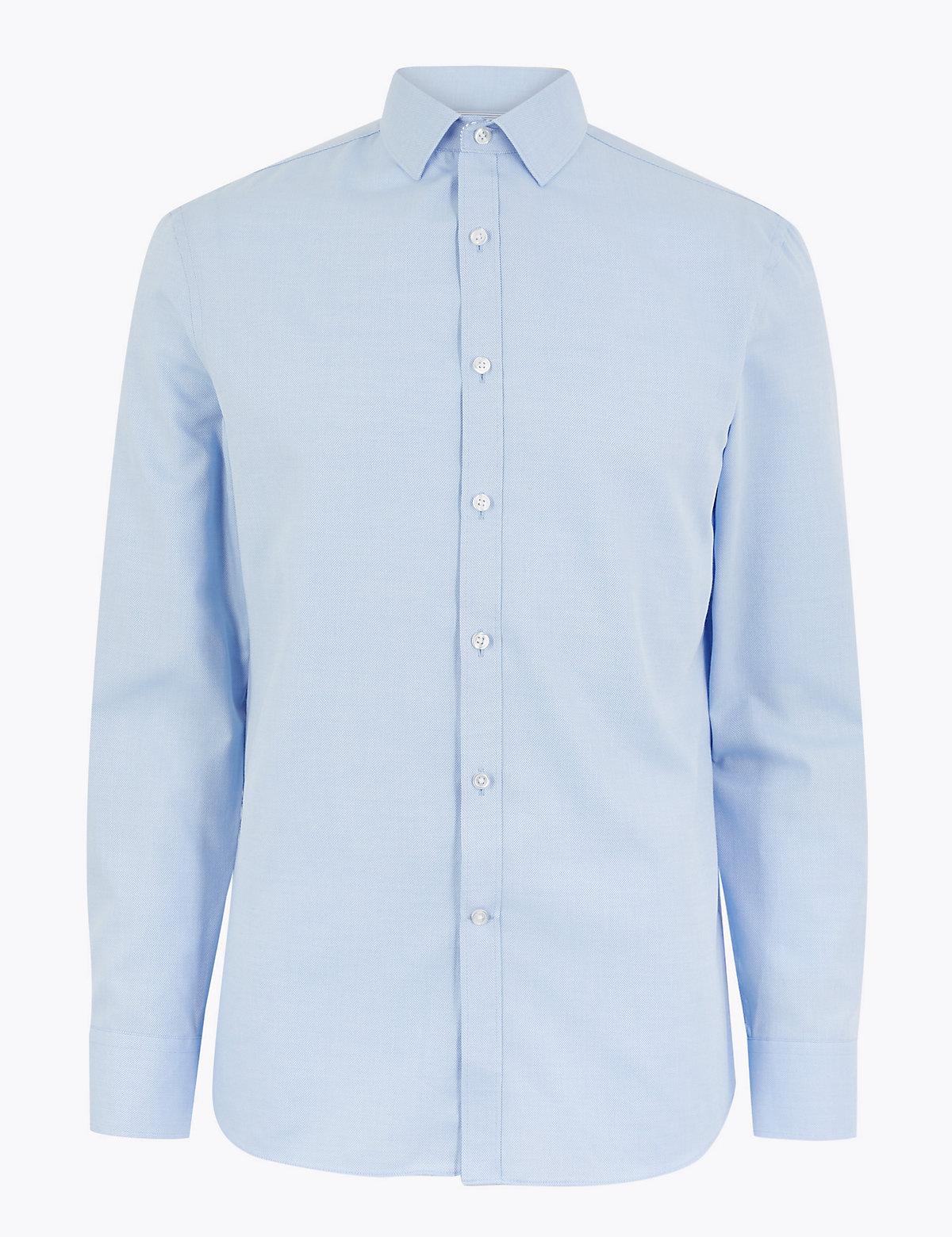 Узкая мужская рубашка с обработкой Easy Iron