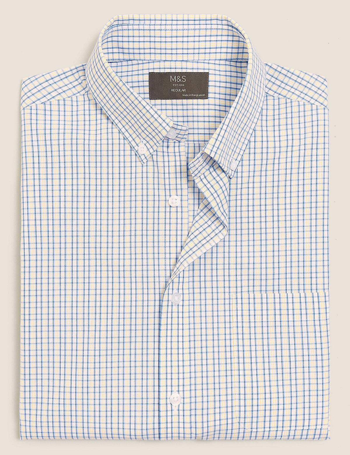 Рубашка с принтом в клетку из хлопка
