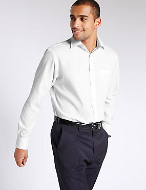 2 Pack Easy to Iron Shirts with Pockets, WHITE, catlanding