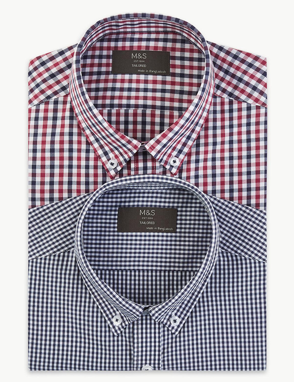 Комплект из двух рубашек в клетку